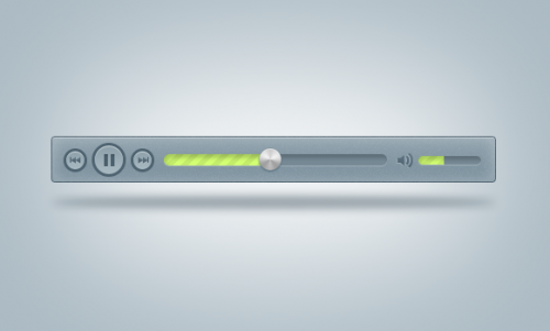 Blue Mp3 Player PSD