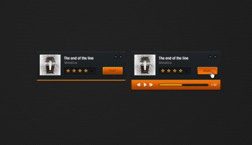 Free MP3 Player PSD