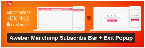 Aweber Mailchimp Subscribe Bar