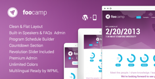 FooCamp: Conference WordPress Theme