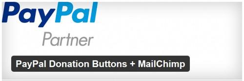 PayPal Donation Buttons + MailChimp