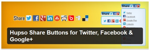 Hupso Share Buttons for Twitter, Facebook & Google+