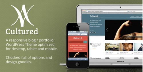Cultured - A Responsive Blog, Portfolio Theme