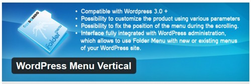 WordPress Menu Vertical