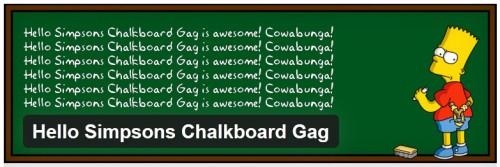 Hello Simpsons Chalkboard Gag