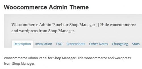 Woocommerce Admin Theme