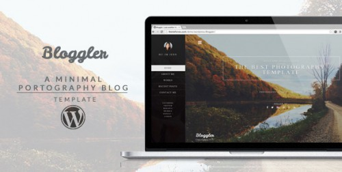 Bloggler - Creative WordPress Blog Theme