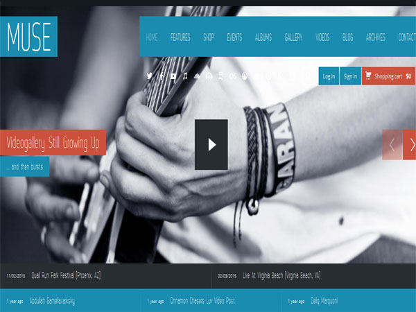 Muse - Top Music Band WP Theme