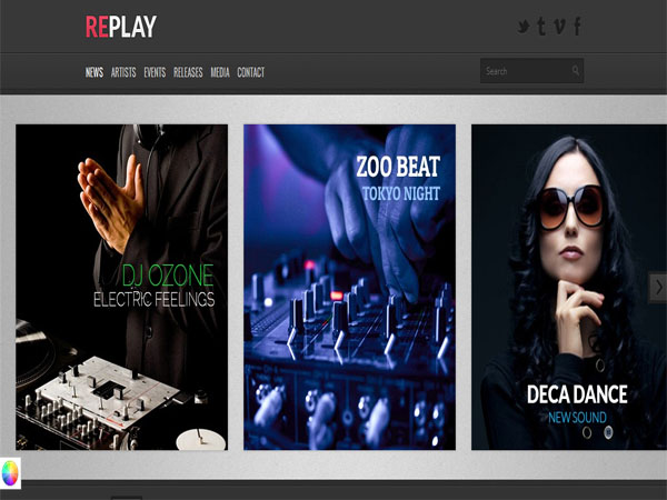 Replay - Modern Music WP Theme