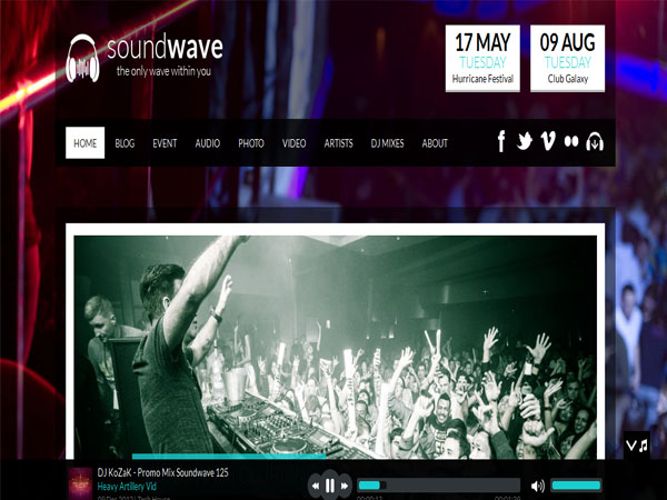 SoundWave - Creative Music Vibe WP Theme